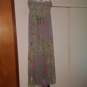 Old Navy sleeveless maxi sun dress (L)